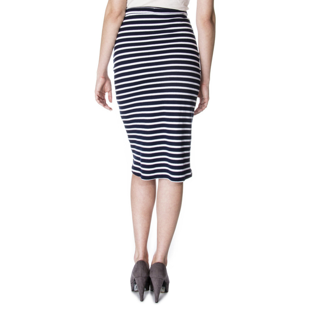 sexy secretary Scalloped Side Pencil Skirt Back
