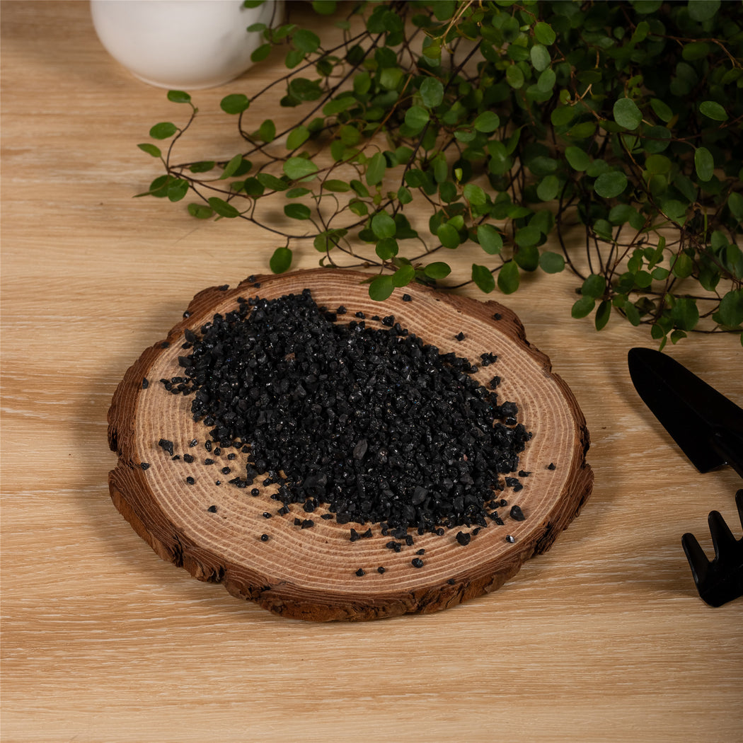 Decorative Black Galaxy Rocks Quartz Sand for Succulents Top Dressing, Terrarium, Fairy Gardening - NCYPgarden