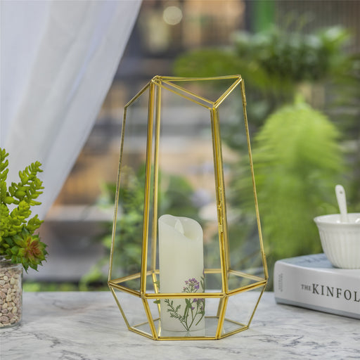 NCYP Hanging Geometric Glass Lamp Candle Holderwith Swing Lid Top Hallow Open for  Wedding - NCYPgarden