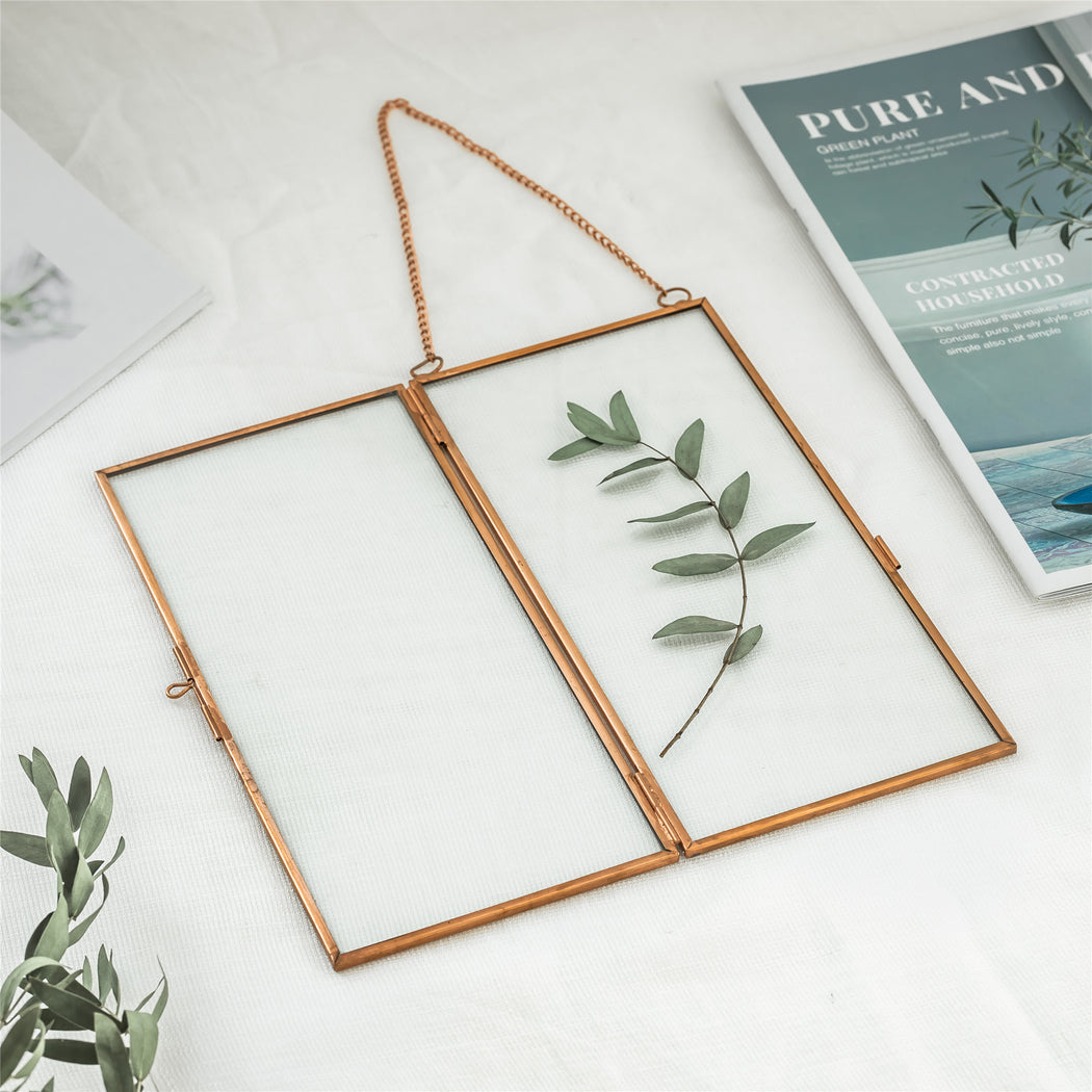 NCYP 4x9 inchs Clear Glass Picture Frame Wall Hanging Certificate Photo Plant Specimen Clip - NCYPgarden