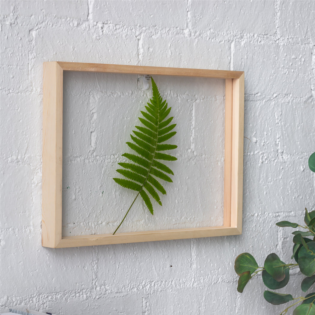 "NCYP Handmade 5' 20"" A3 A4 Large Tabletop Wall Hanging Natural Wood Acrylic Artwork  Floating Frame - NCYPgarden"