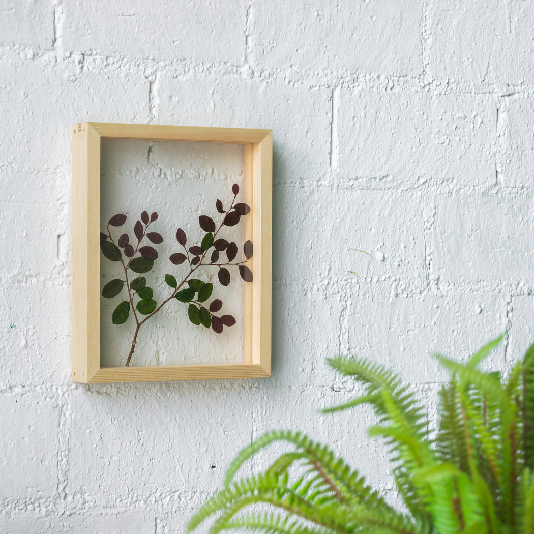 NCYP Handmade Personalized Tabletop Wall Hanging Natural Wood Glass Floating Frame for  Photo - NCYPgarden