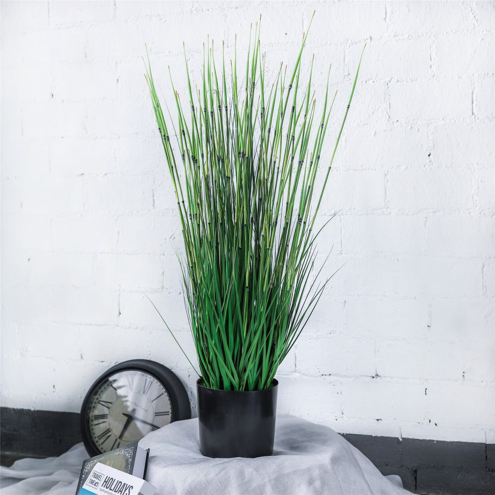 "40.9"" Large Natural Looking Faux Fake Tall Artificial Horsetail Reed Marsh Bamboo Rushes Grass - NCYPgarden"