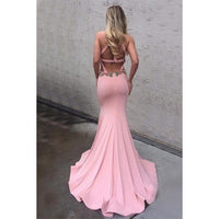 Trumpet Prom Dresses, Pink Prom Dresses, Long Prom Dresses With Keyhole Sleeveless Round,JJ1122