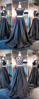 2019 New style ball gown 2 pieces prom dresses fashion prom gowns Black Sweet 16 Gown prom dress for spring teens,1198