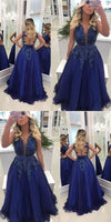 A-line Floor Length Prom Dress With Applique and Pearls Semi Formal Dresses Wedding Party Dress,prom dress,prom dress