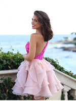 Prom Dress Short, A-Line Homecoming Dress ,1235