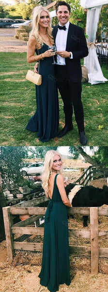 dark green long prom dress,Long prom dress, simple party dress,Formal Dress,JJ127
