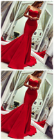 Sleeveless Sweetheart Red Mermaid Formal Occasion Dresses,JJ130