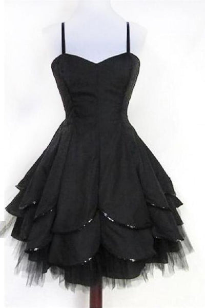 Excellent Black Homecoming Dresses, Simple Homecoming Dresses,1371
