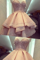 Short Mini Homecoming Dresses, Pink Mini Homecoming Dresses,1423