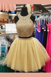Custom Made Trendy Prom Dresses A-Line, Two Pieces Prom Dresses, Prom Dresses 2019, Short Prom Dresses,1428