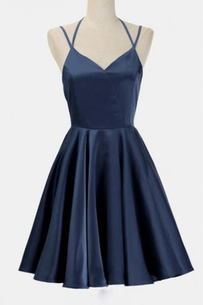 Simple Party Dress, Party Dress For Cheap, Dark Blue Wedding Dress, Blue Party Dress ,homecoming dress,1503