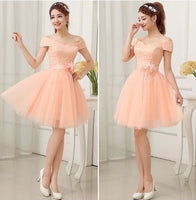 Pink Cute Cap Sleeves Short Party Dress With Belt, Lovely Teen Tulle Formal Dress, Handmade Formal Dress ,1610