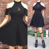 moon child- goth dress,homecoming dress,1845