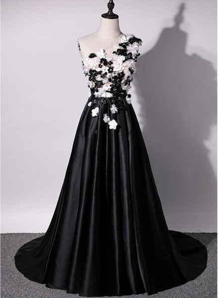 Black, Black And White, Lace, Sleeveless ,prom dress,1959