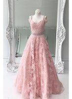 Unique, Pink, Lace ,prom dress,1970