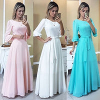 Gorgeous Pink /White /Blue Prom Dress , Half Sleeves Prom dress,B61