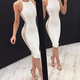Sexy Ivory Jersey Short Cheap Homecoming Dresses,JJ02