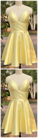 Light Yellow Homecoming Dresses, Cute Short Prom Dresses, Party Dress,JJ215