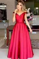 Off Shoulder Red Mermaid Evening Dress, Sexy Long Prom Dress,prom dress