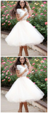Custom Made Morden Homecoming Dress Short, Ivory Homecoming Dress, Prom Dresses For Cheap, Two Pieces Prom Dresses,JJ243