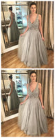 Popular Sexy Long Prom Dress With Beading Semi Formal Dresses Wedding Party Dress,JJ257