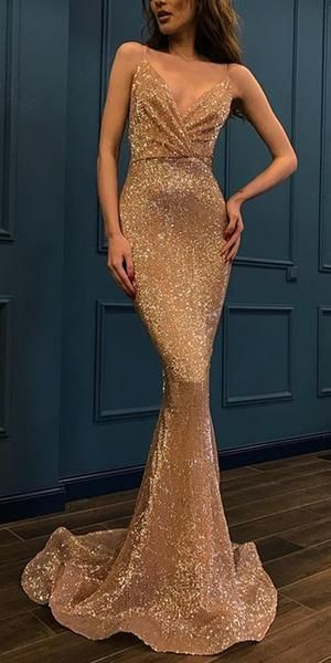 Sparkly Sequin Different Colors Mermaid Backless V-neck Sexy Prom Dresses,prom dress