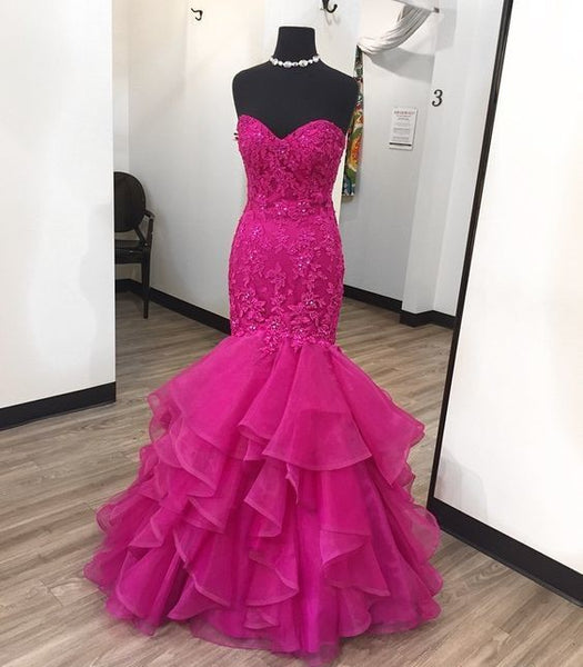 Charming Prom Dress,Sexy Prom Dresses,Mermaid Evening Dress,Sleeveless Tulle Lace Evening Dresses,Formal Dress, ,B2