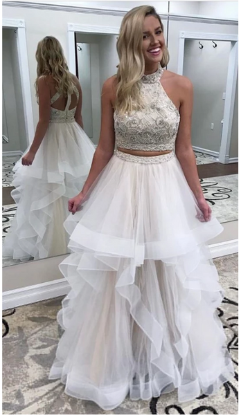 2 Piece Prom Dresses,Prom Dress 2018,Evening Gowns,Formal Dress,Banquet Dresses, 3672