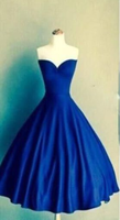 Royal blue Ball Gown sweetheart simple tight homecoming prom gown dress,JJ388