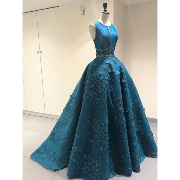 Long Prom Dresses, Vintage Prom Dresses, Ball Gown Prom Dresses, Wedding Dresses 2019 ,4195