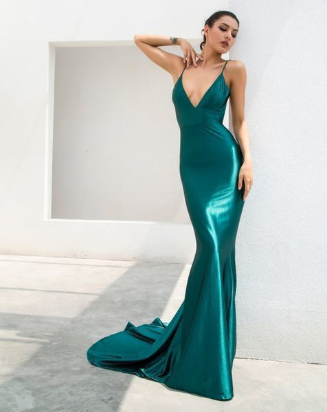 Emerald Green Formal Gown,JJ426