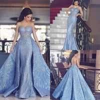 Details about Detachable Evening Dresses Crystal Luxury Sequin Formal Prom Party Gowns Mermaid prom dress ,4366