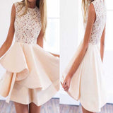 Lovely Lace Top Unique School Graduation Homecoming Dresses, JJ49