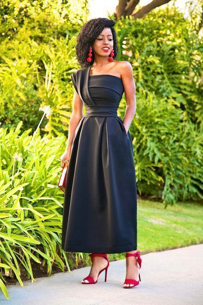 Black Fashion Prom Dress,Sexy Party Dress,Custom Made Evening Dress , ,F4