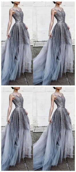 Long Stunning Sparkly Gorgeous Modest Prom Dresses,JJ519
