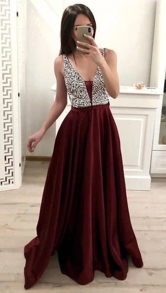 Affordable Prom Dress Long, Evening Dress ,Winter Formal Dress, Pageant Dance Dresses, Graduation School Party Gown,5540