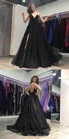 Spaghetti Straps A-Line Prom Dresses,Long Prom Dresses,Cheap Prom Dresses,5563