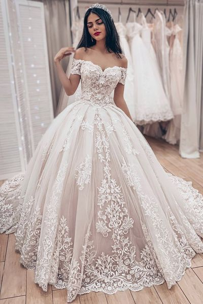 Beautiful Lace Wedding Dresses ,prom dress ,5579