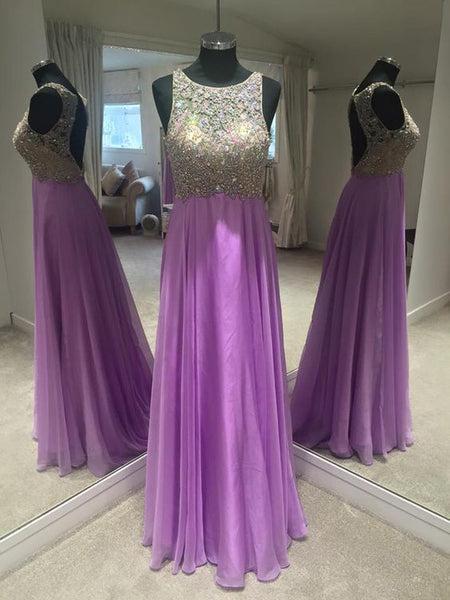 Charming Prom Dress,Elegant Prom Dress,Chiffon Evening Dress, Long Homecoming Dress,Sleeveless Formal Dress,5715