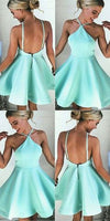 Cheap Colorful Short Prom Dresses Sexy A-line Mint Green Short Homecoming Dress/Cocktail Dress,JJ574