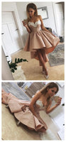 Lace Embroidery Pearl Beaded Sweetheart Prom Dresses Front Short Long In The Back,JJ604
