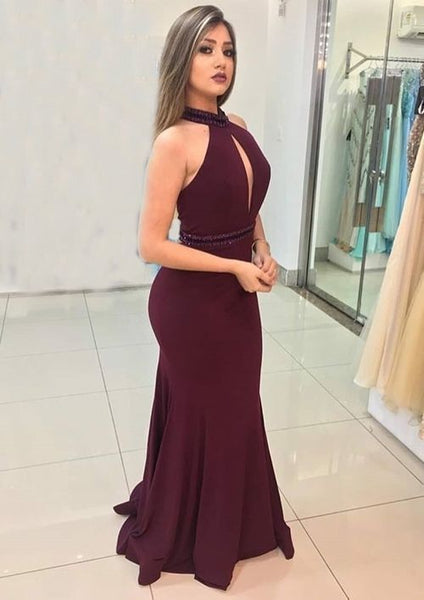 Halter Mermaid Charming Prom Dress,Prom Dress,Prom Dresses,Long Prom Dress,6123
