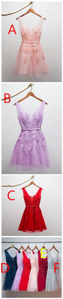 Sexy A-line Flower Short Prom Dress Party Dress, Homecoming Dress,JJ623