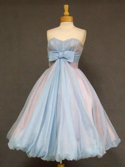 A-line Sweetheart Tea Length Homecoming Dress Vintage Short Prom Dress,JJ755
