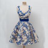 Royal Blue Lace A-Line Homecoming Dress, Sleeveless Tulle Sexy Backless Homecoming Dress,JJ890