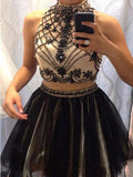 Two Pieces Homecoming Dress Short Prom Dress Homecoming Dresses ,JJ933