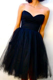 Sweetheart Off Shoulder Tulle Homecoming Dresses,Short  Dress, JJ966