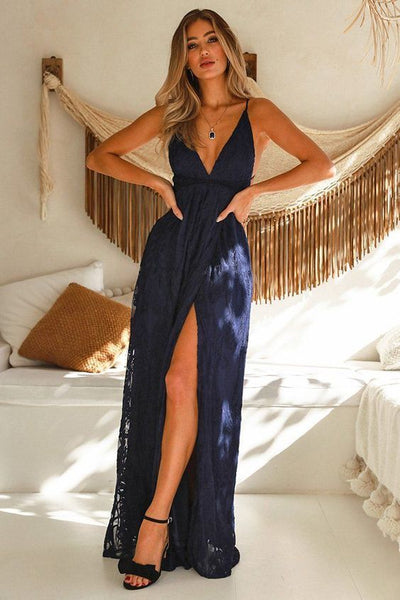 East Atlanta Maxi Dress Navy – Prom outfits,prom dress ,d13
